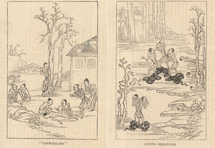 North China famine woodblock prints